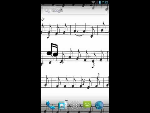 Music Notes Live Wallpaper