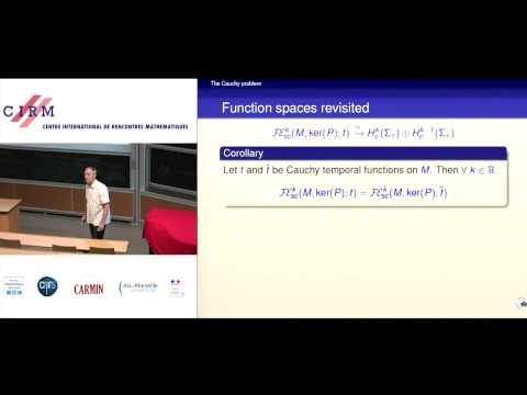 Christian Bär: Characteristic initial value problem for wave equations on manifolds