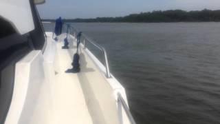 Evinrude G2-250 HP outboards repower Trawler Catamaran