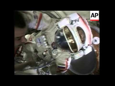 Astronaut hits golf ball into space