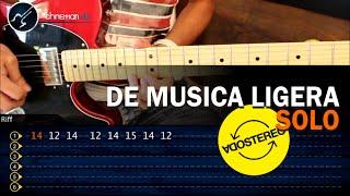 Como tocar DE MUSICA LIGERA Soda Stereo SOLO (HD) Guitarra Electrica