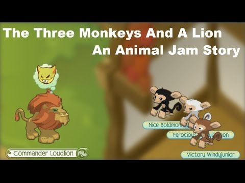 The 3 Monkeys And A Lion Story | Animal Jam