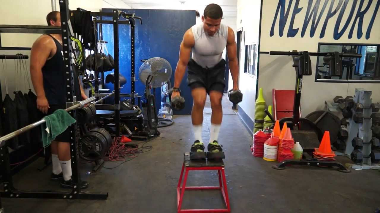 Jumpsole weighted box jumps - YouTube