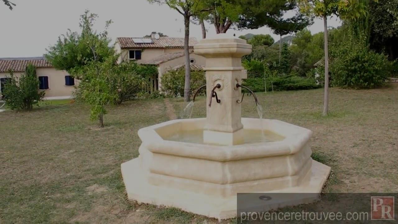 fontaine de jardin en circuit ferme