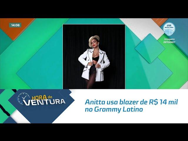Anitta usa blazer de R$ 14 mil no Grammy Latino