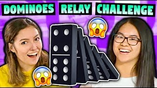DOMINOES RELAY CHALLENGE! (ft. Hevesh5)