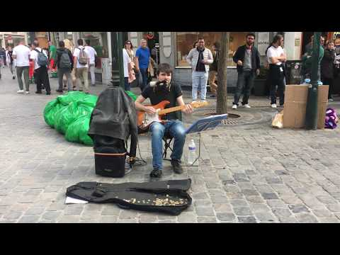 Canned Heat, On the Road Again   busking in the streets of Brussels, Belgium