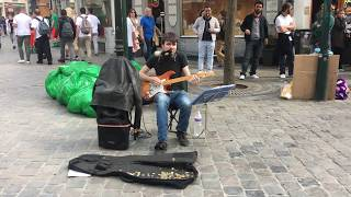Canned Heat, On the Road Again (cover) - busking in the streets of Brussels, Belgium