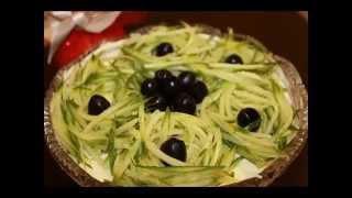 """Салат """"Каприз"""".Очень вкусный салат к праздничному столу за 5 минут!"""