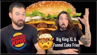 BURGER KING Double Dip - Big King XL & Funnel Cake Fries Review - Ep. 880 #TMR