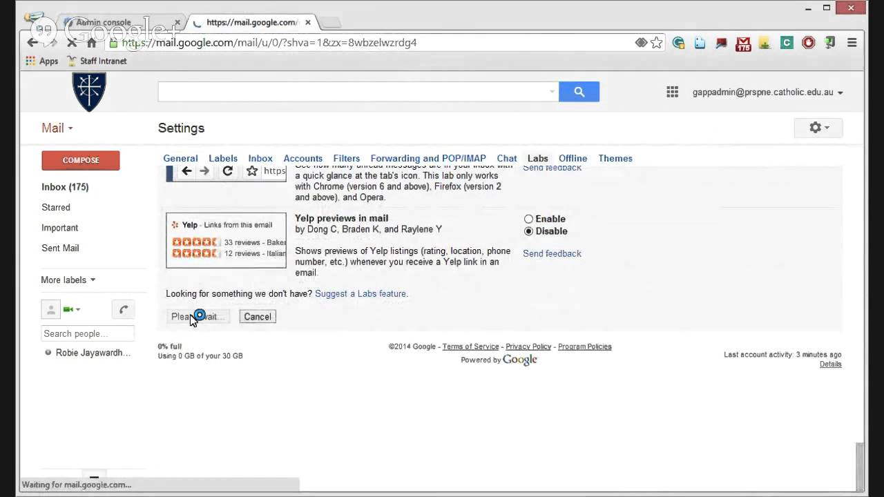 Gmail theme not appearing - Configuring Gmail So Your Contacts Are Always Visible