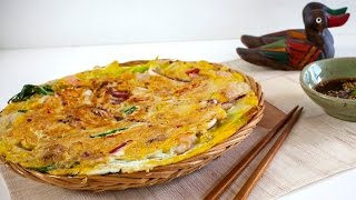 Korean Seafood Pancake (Haemul Pajeon) - Korean Series video 4 - CookingWithAlia - Episode 376