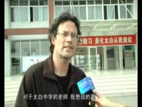 Teacher in English from the Netherlands on Chinese TV