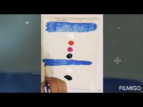 Easy technique painting / poster colour
