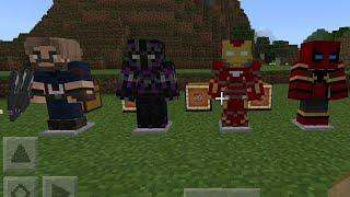 Мстители война бесконечности в майнкрафт пе?! Обзор мода на мстителей в майнкрафт пе.