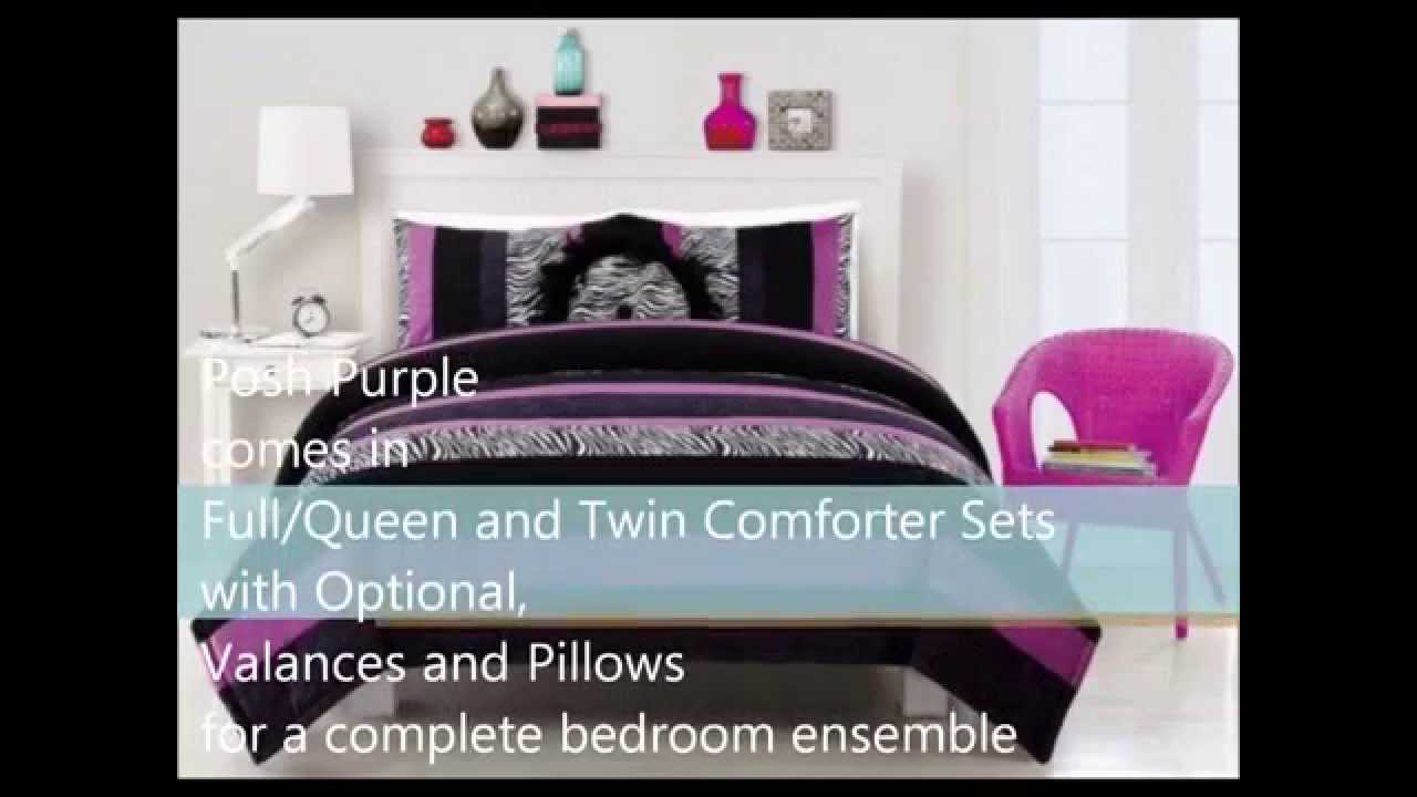 Bed sets for teenage girls zebra - Posh Purple Zebra Print Bedding For Teenage Girls