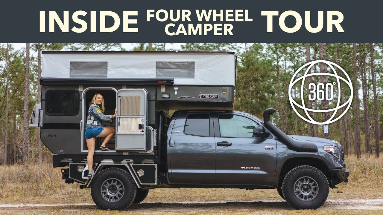 Four Wheel Camper >> Inside Our Four Wheel Camper Hawk Flatbed On A Toyota Tundra Vr 360