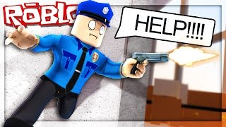 Roblox Adventures - THE SHERIFF GOT STUCK IN THE WALL! (Murder Mystery)