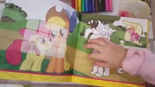 Раскраска My little pony.Мой маленький пони.
