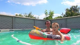 Видео для детей / VLOG Плаваем в большом бассейне Intex(Видео для детей / VLOG Плаваем в большом каркасном бассейне Intex Каркасный бассейн INTEX 132x550., 2016-06-23T21:40:15.000Z)