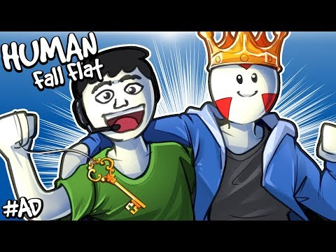 "Human: Fall Flat - NEW ""DARK"" LEVEL WITH NOGLA! (DLC)"