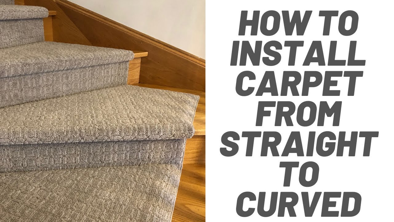 How To Install Carpet On Curved Stairs Youtube | Stair Runners For Carpeted Stairs | Round Corner | Marble | Hardwood | Commercial | Tile Stair