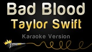 taylor swift bad blood 1989 karaoke version