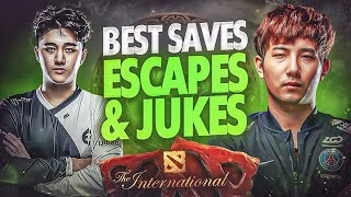 BEST Saves, Escapes & Juĸes of TI10 The International 10 - Dota 2
