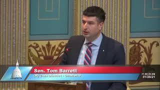 Sen. Barrett speaks in support of Senate Resolution 8 (Sanctity of Life)