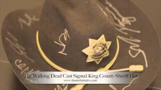 The Walking Dead Cast Signed King County Sheriff Hat