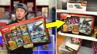 I DID NOT Expect To Find This Pokemon HIDDEN FATES RESTOCK At Walmart! Opening A Premium Cards Box
