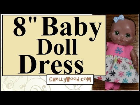 Free Sewing Patterns For Dolls 8 Inch Baby Doll Snowflake Dress