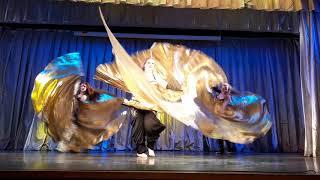 "Танец живота с крыльями. Wings belly dance. Школа танцев ""Экспромт"" СПб."
