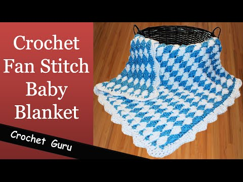 Crochet Blanket Stitches Youtube : How to Crochet Baby Blanket - Fan Stitch Pattern - YouTube