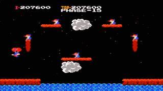 Balloon Fight Gameplay Nes (Nintendo)