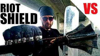 The Most Durable Expandable Baton in the World vs Police Riot Shield (Extreme Ultimate Test)