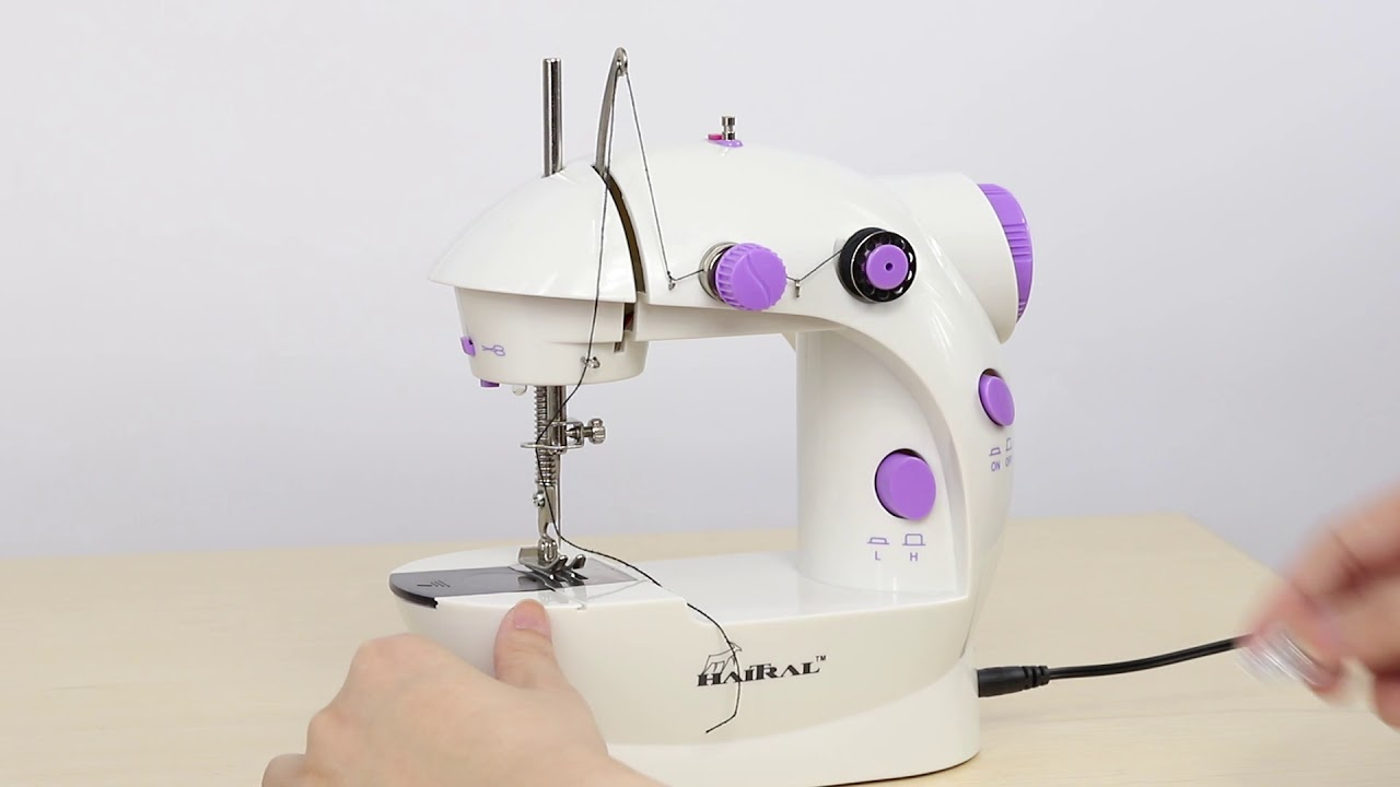 How To Operate Mini Sewing Machine Haitral Sewing Machine Youtube