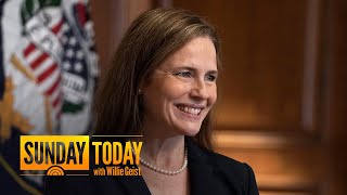 Judge amy coney barrett is expected to be confirmed on monday as the newest justice supreme court of united states a party-line vote. senat...