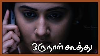 Attakathi Dinesh feels for Nivetha   Oru Naal Koothu Scenes   Miya George meets with an accident