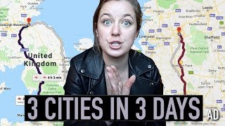3 cities in 3 days using 3 types of transport! (Manchester, Edinburgh & Glasgow)