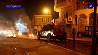 تجدد أعمال الشغب على خلفية مقتل عشريني في بلدة مؤتة - (16-2-2018)