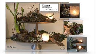 DIY: Wohn.- und Deko Idee, Etagere elegant winterlich dekorieren, Winterdeko ❄️⭐️(How to)/ Deko Jana