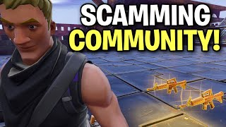 So I joined a scammer ONLY community! 😂👌(Scammer Get Scammed) Fortnite Save The World