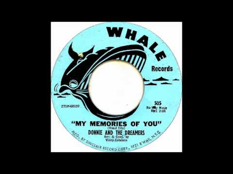 DONNIE & DREAMERS   MY MEMORIES OF YOU 1961 Whale 45  505