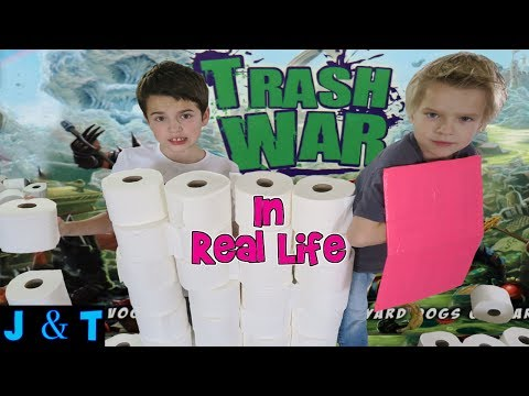 Thumbnail: TRASH WAR IN REAL LIFE /Jake and Ty