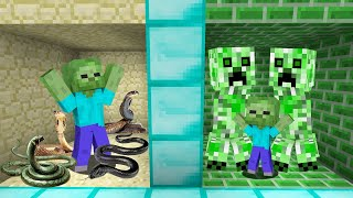 YILAN ODASI VS CREEPER ODASI 😱 - Minecraft
