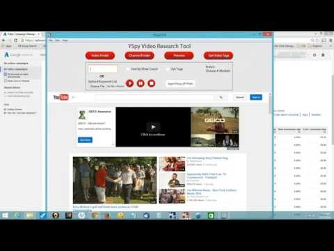 Youtube Ad Campaign Tool -- Hijack your Competitors' Traffic and Get their Tags