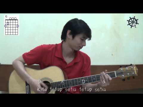 Akustik Gitar - Belajar Lagu (17 Agustus 1945 - H. Mutahar)