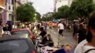 Group of Cyclists hit by a car
