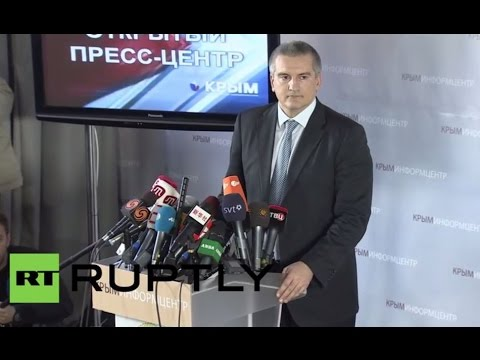 LIVE: PM Aksenov gives press conference on Crimea
